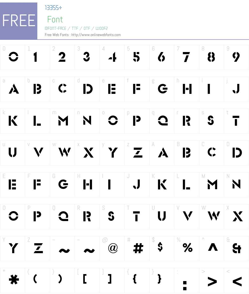 FuturaStencilICG Font Screenshots