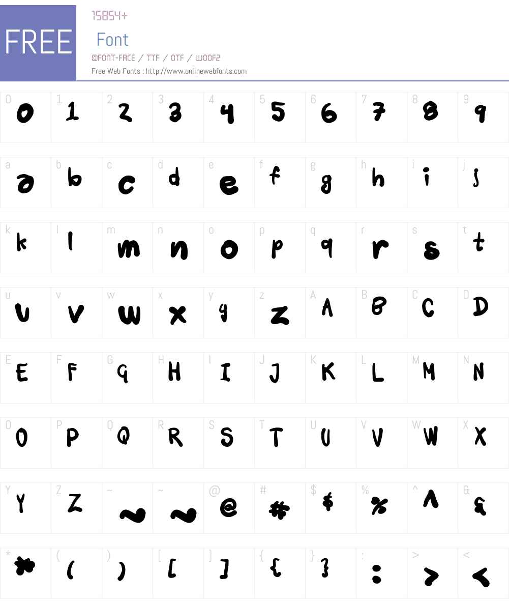Tusch Touch Font Screenshots