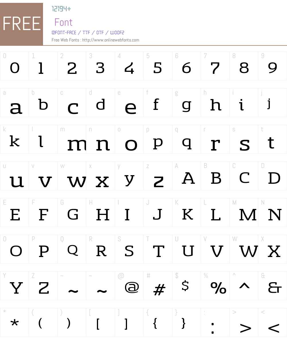 SancoaleSlSfW01-ExtRegular Font Screenshots