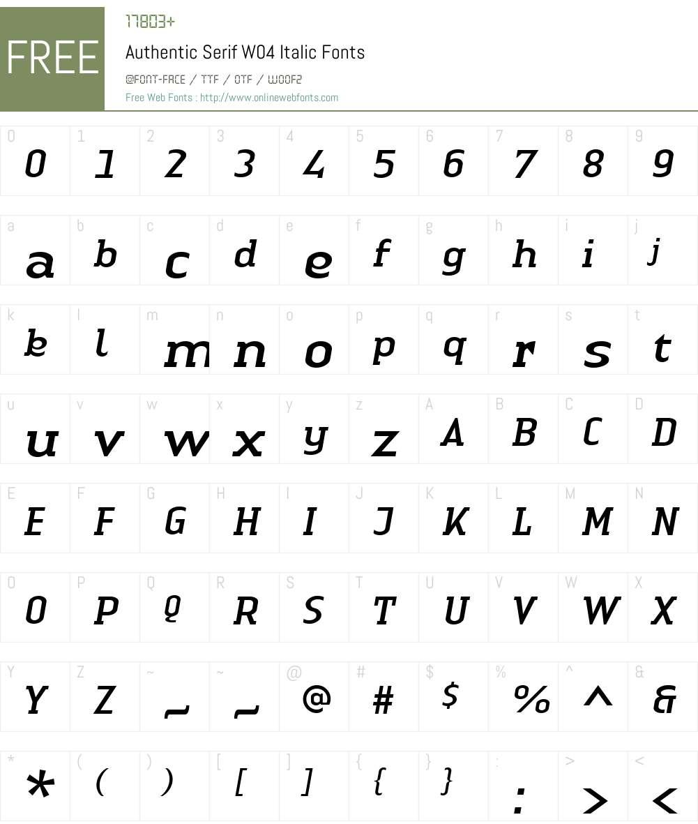 Linotype Authentic Serif Font Screenshots