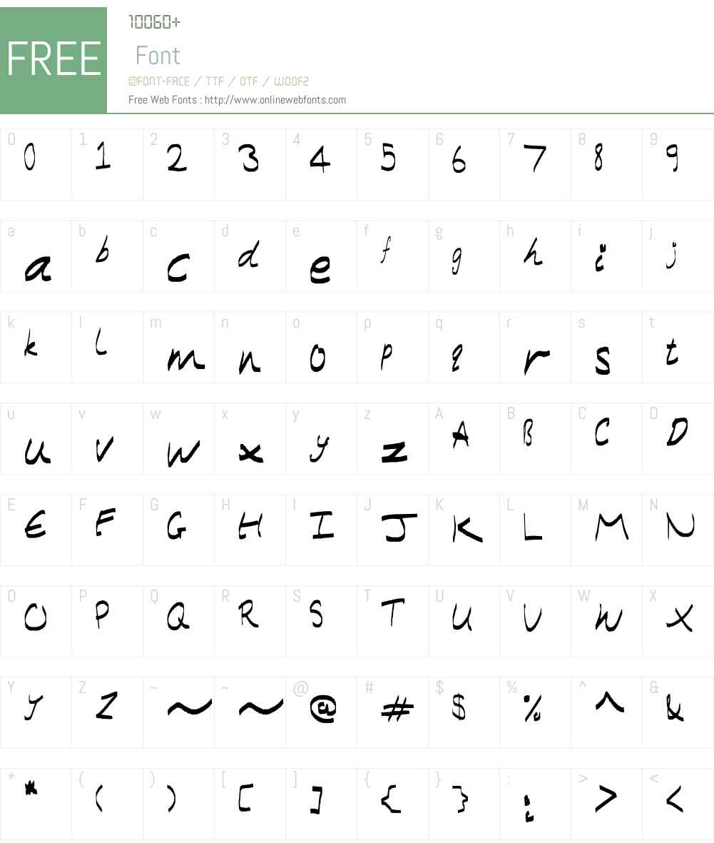 Modern Caligraphy Font Screenshots