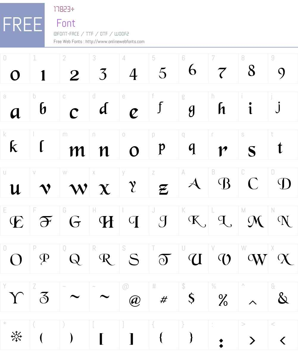 BlackChancery Font Screenshots