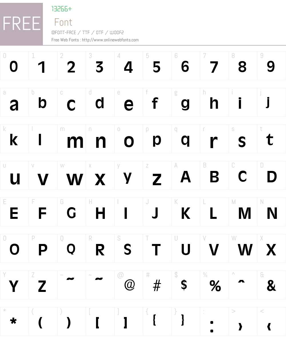 RavennaSerial Font Screenshots