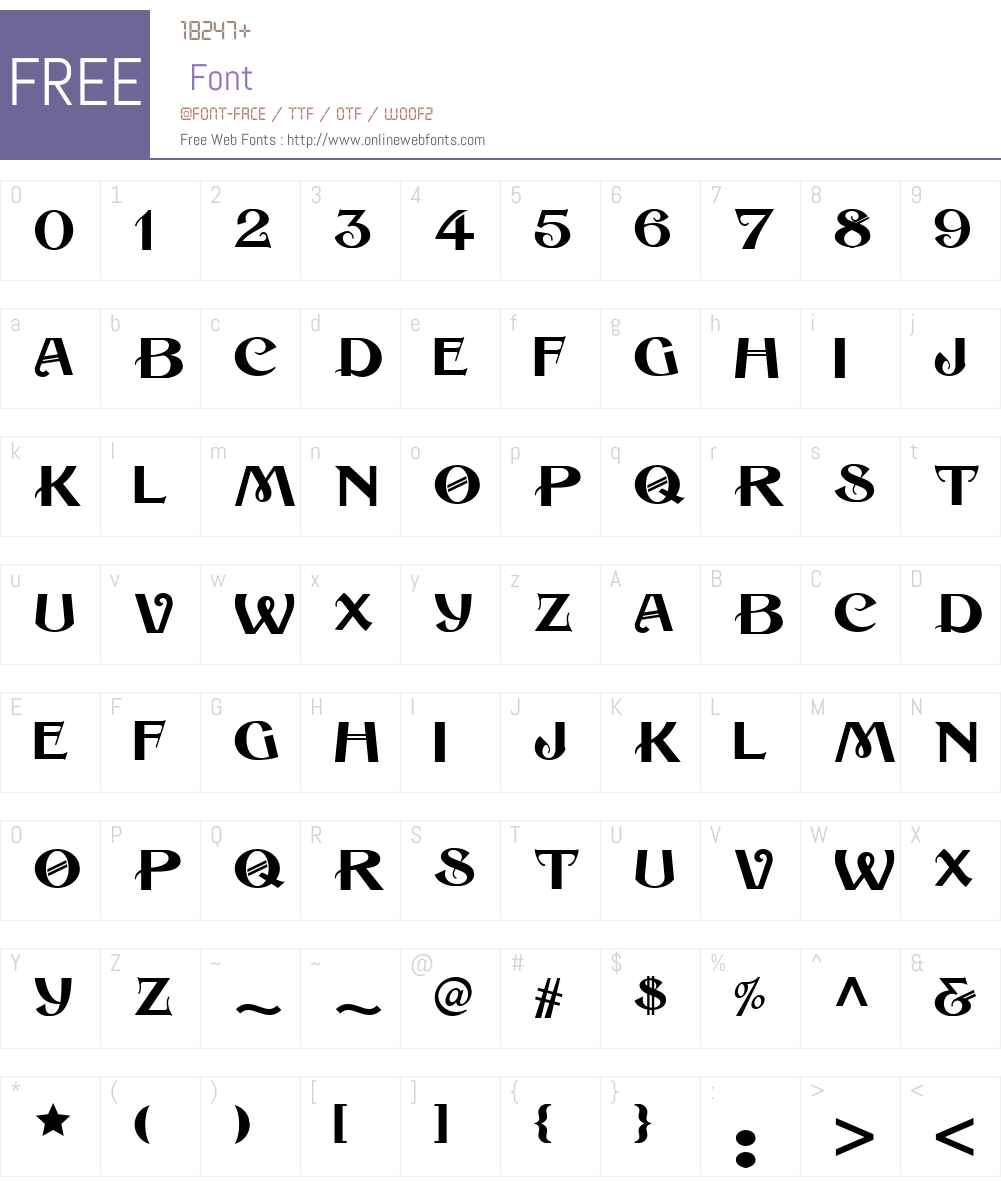 HabanaSweetsNFW01-Regular Font Screenshots