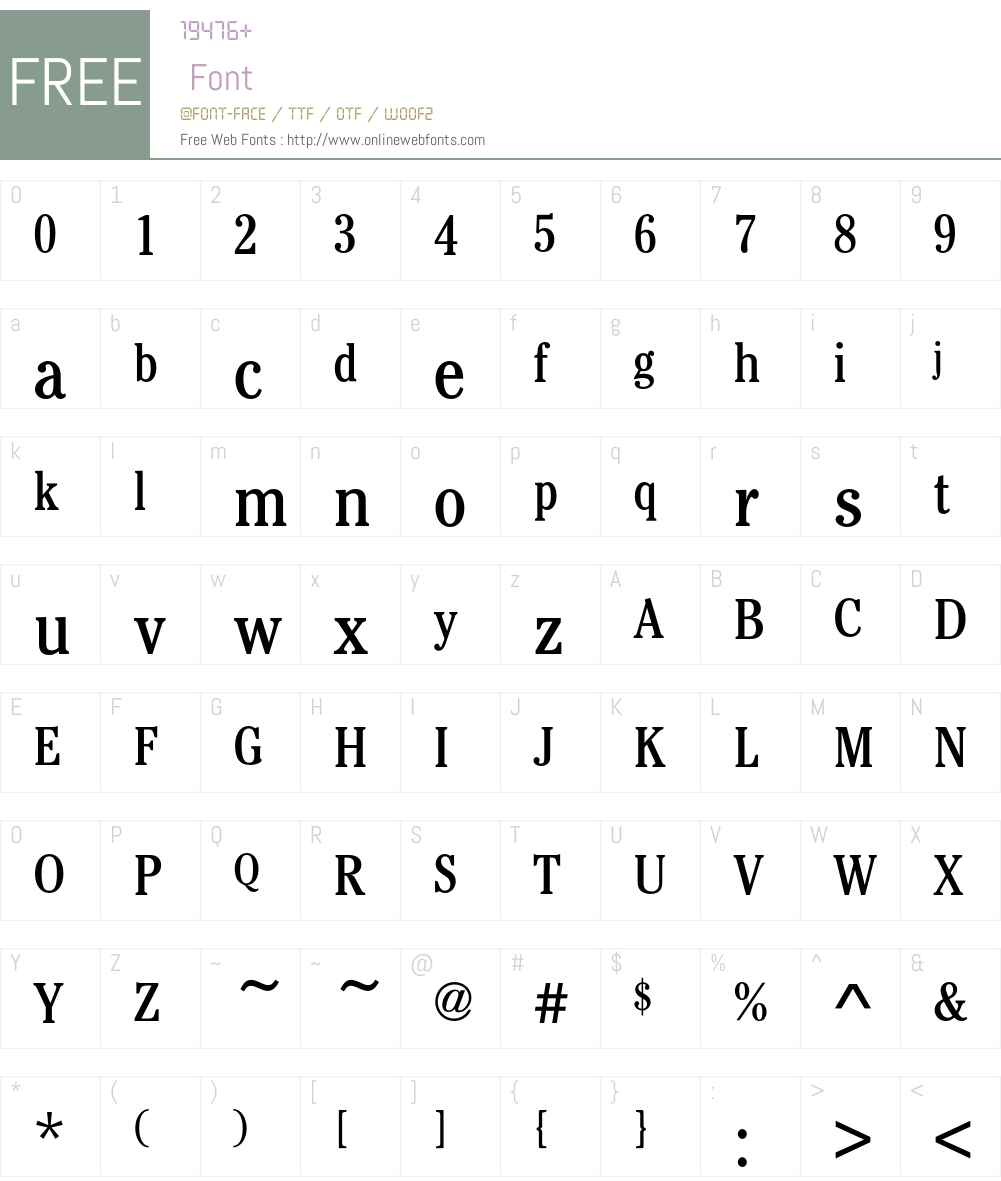 CheltenhamEF-BookCondensed Font Screenshots