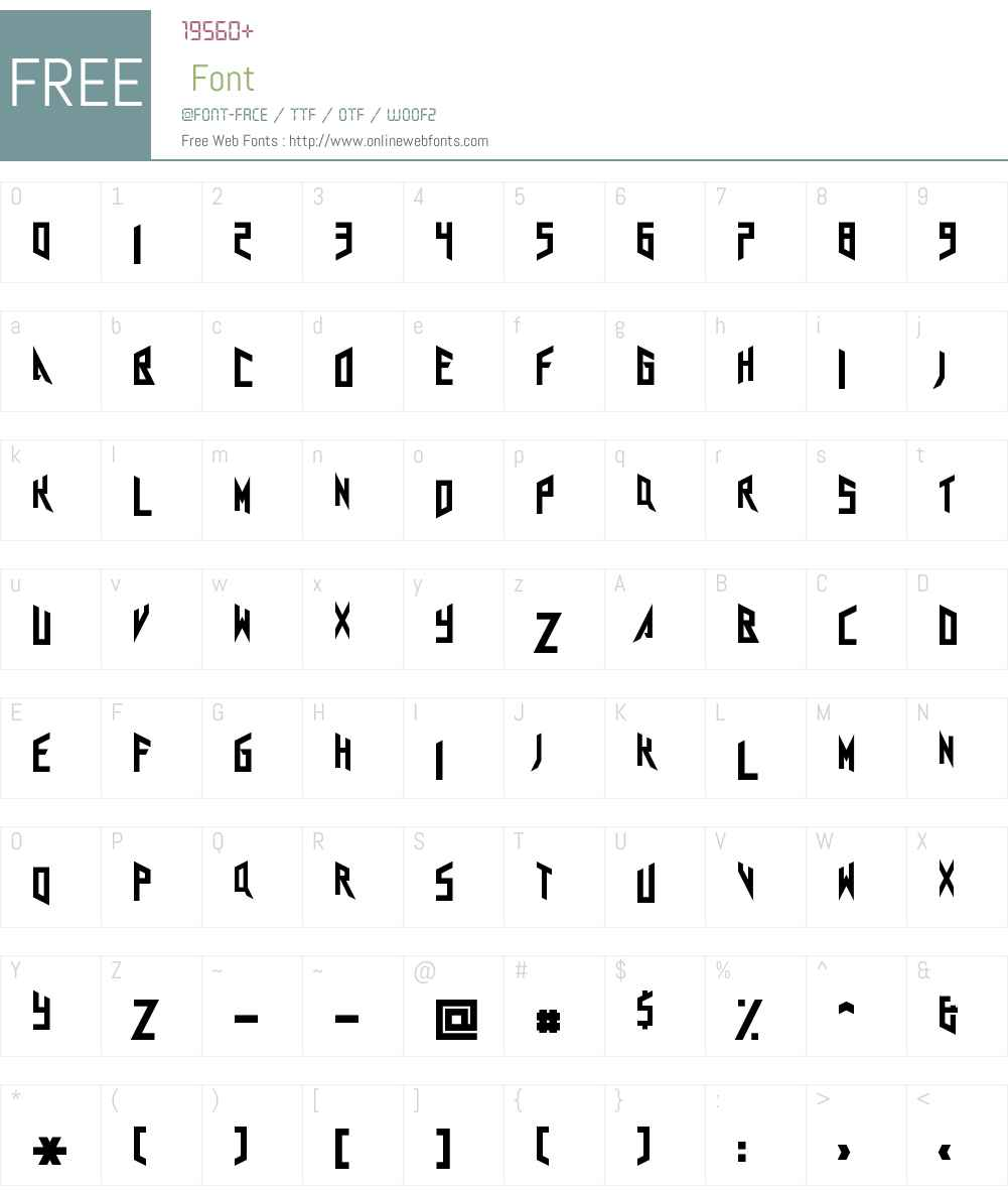 Agra Axera Font Screenshots