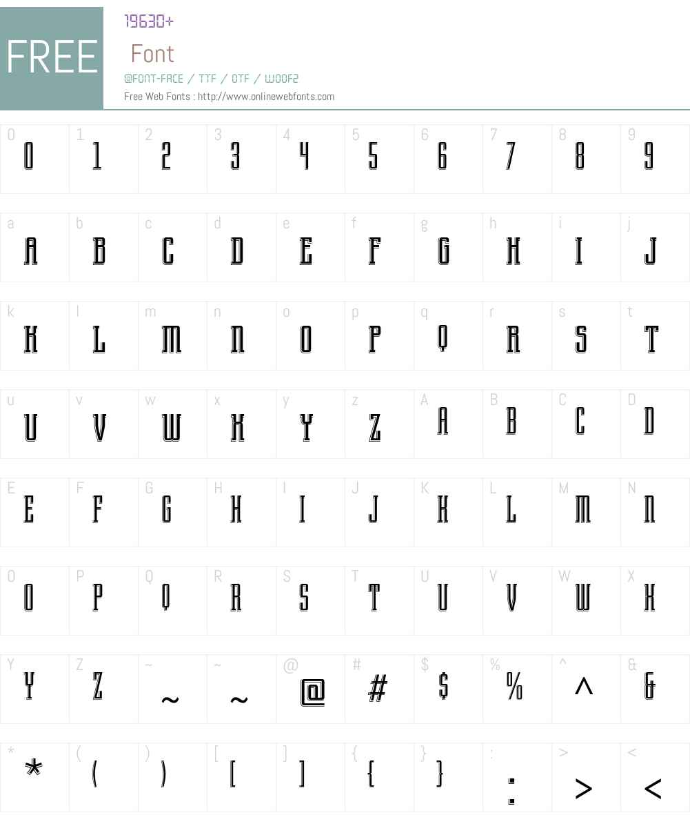 Arecibo ITC Std Font Screenshots