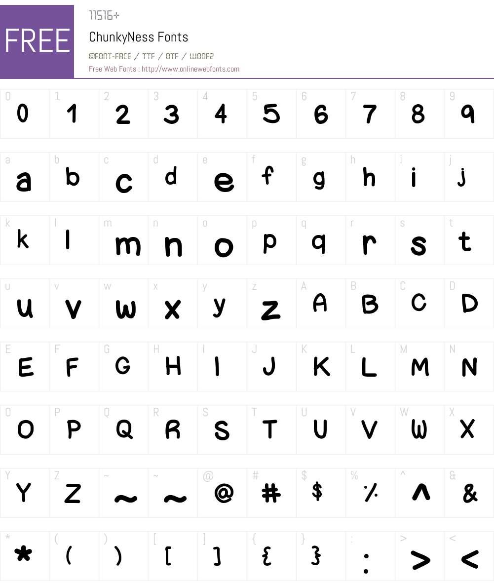 ChunkyNess Font Screenshots
