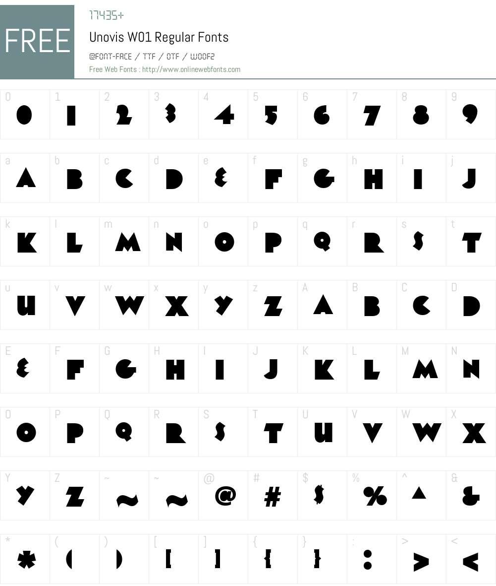UnovisW01-Regular Font Screenshots
