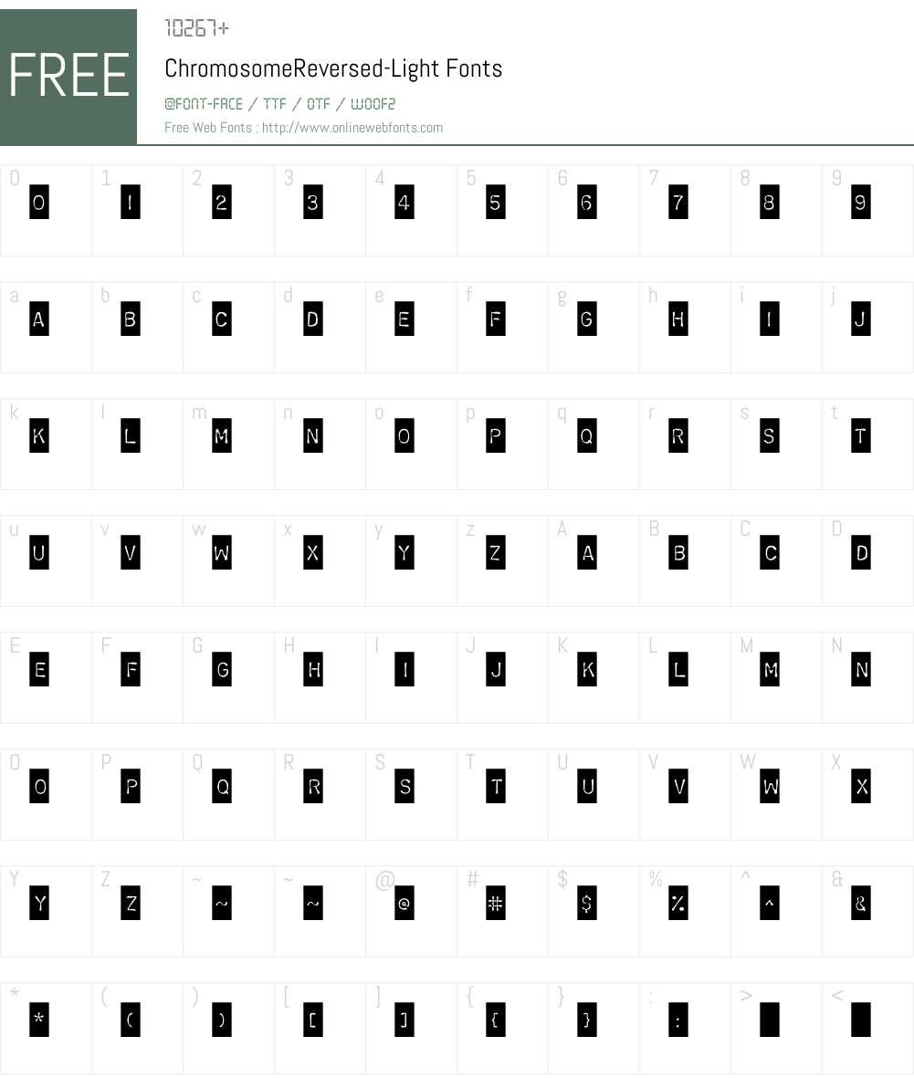 ChromosomeReversed Font Screenshots
