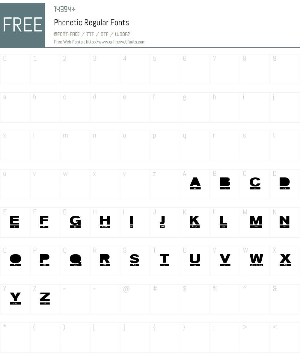 Phonetic Font Screenshots