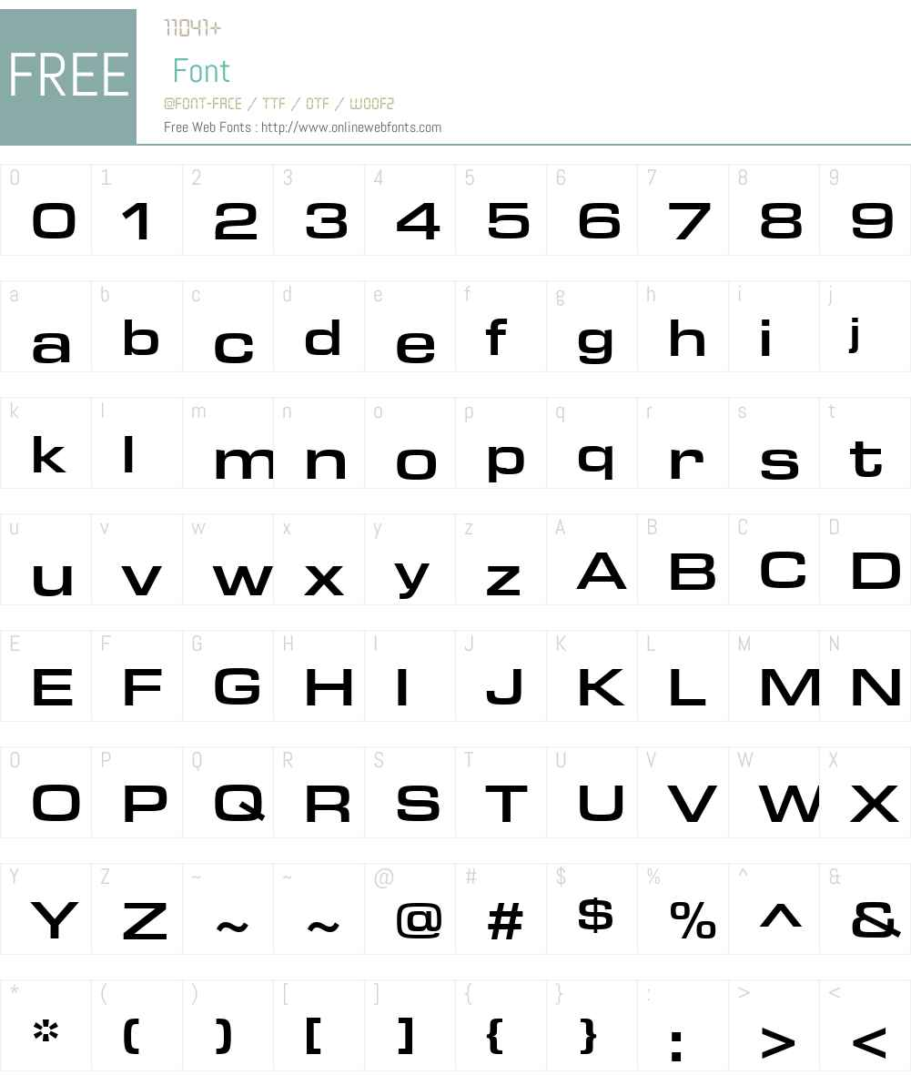 ArianLT-Bold Font Screenshots