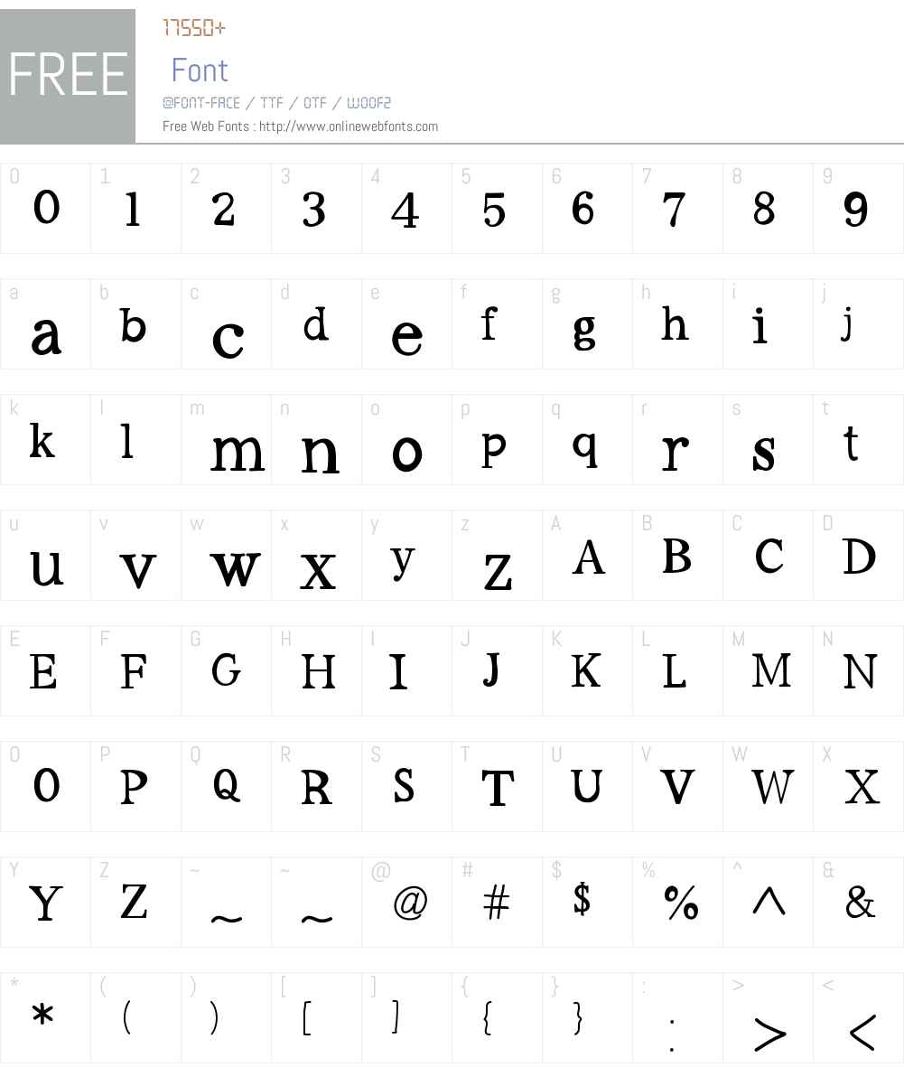 Workaholic Font Screenshots