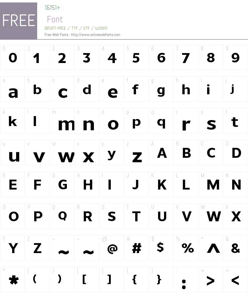 UnimanW00-ExtraBold Font Screenshots
