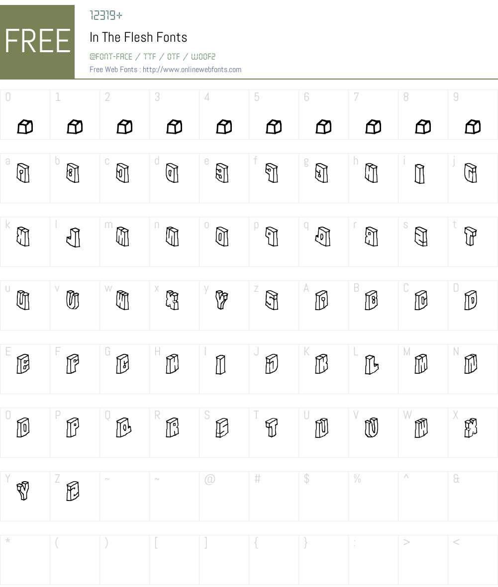 In The Flesh Font Screenshots