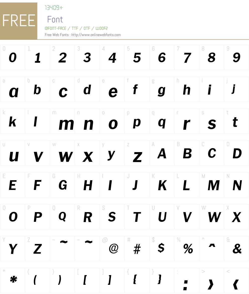 PlymouthSerial-Xbold Font Screenshots