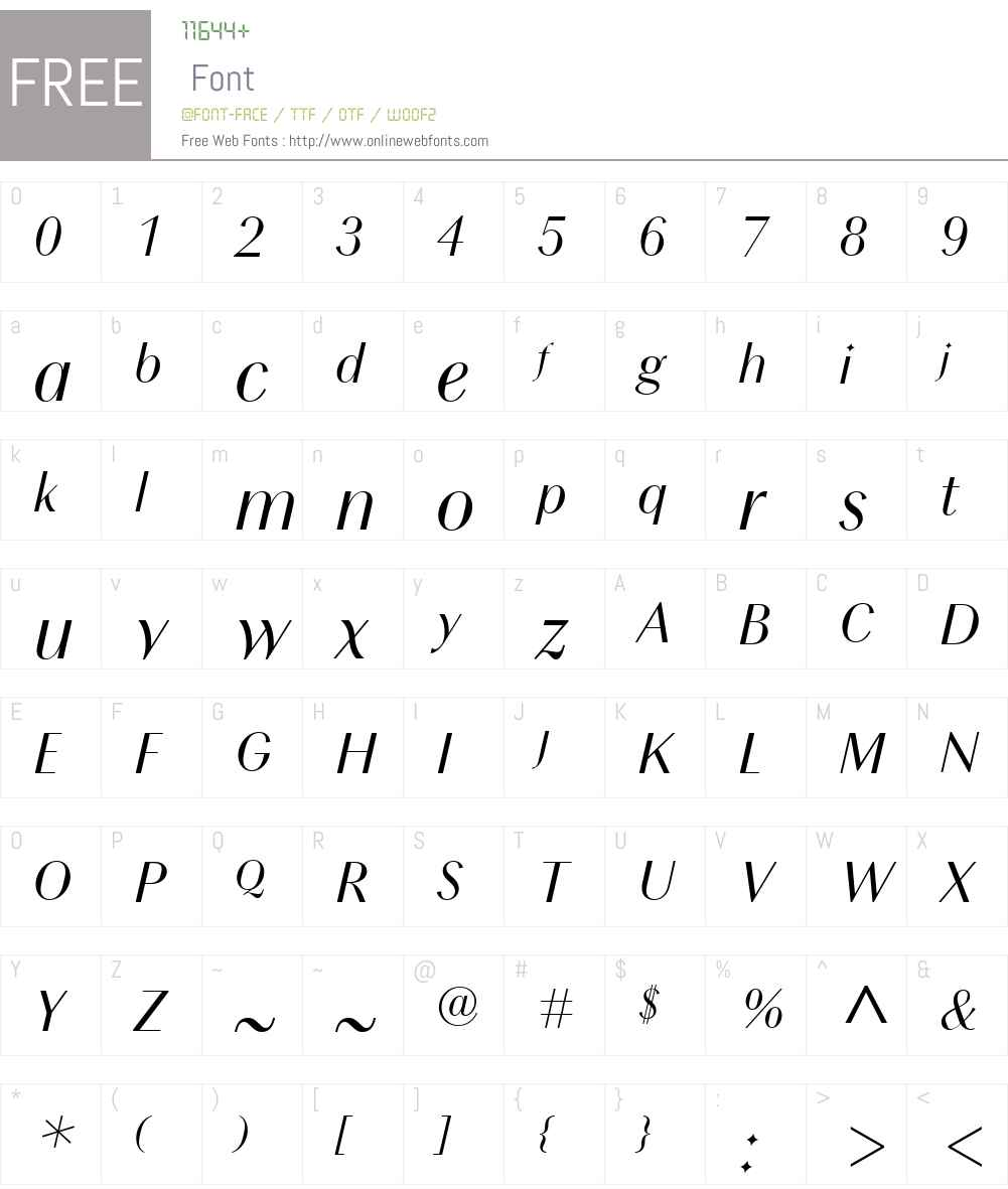 Chong Modern Font Screenshots