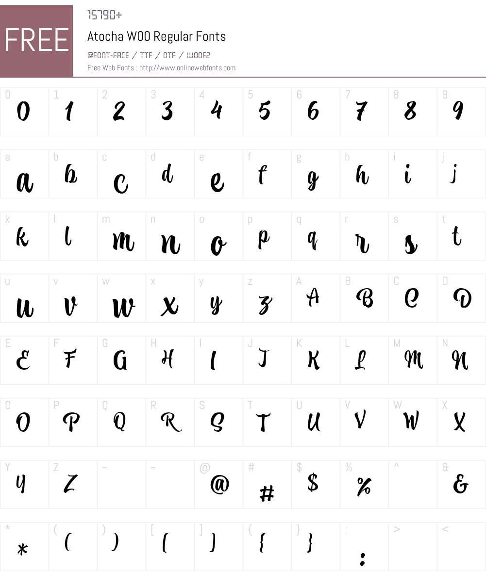Atocha Font Screenshots