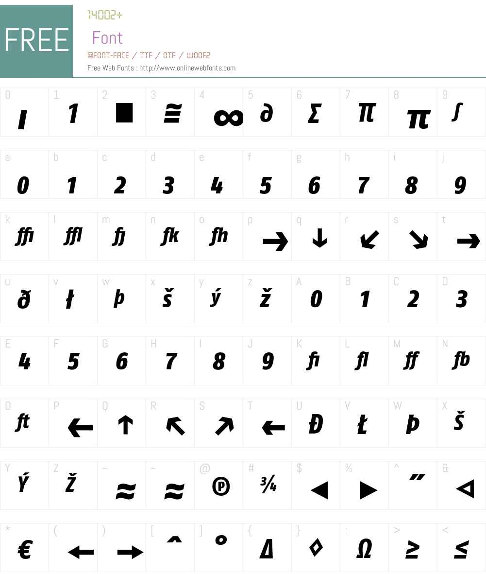 FagoCo Font Screenshots