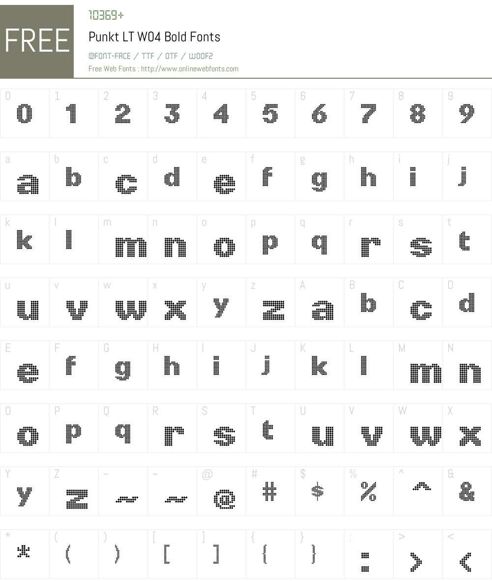 Linotype Punkt Font Screenshots
