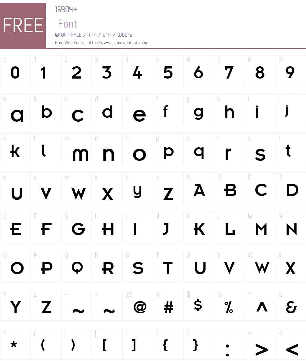 Ensign Font Screenshots