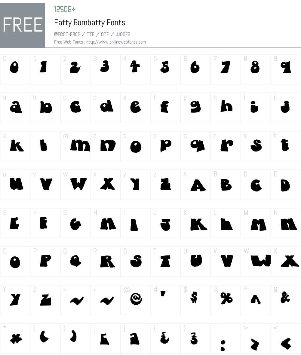 Fatty Font Screenshots