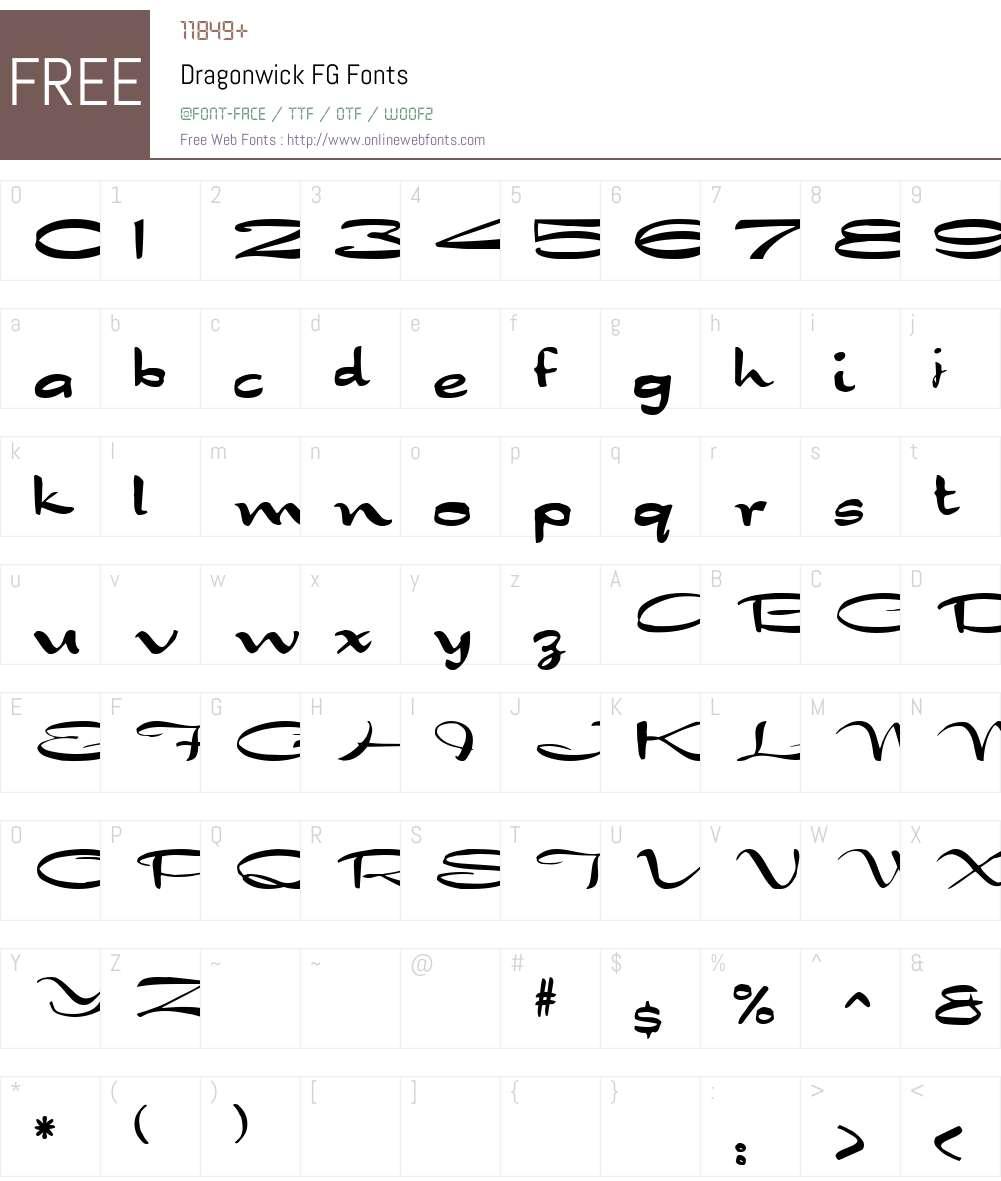 Dragonwick FG Font Screenshots