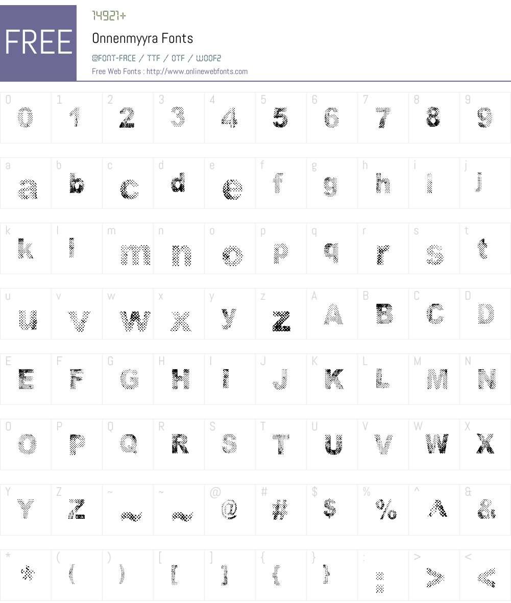 Onnenmyyra Font Screenshots