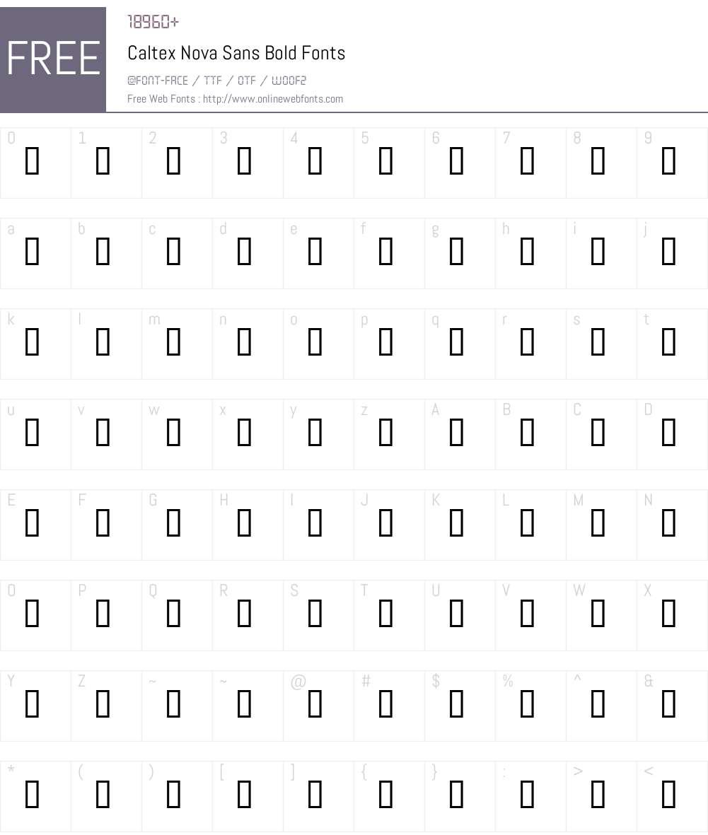 Caltex Nova Sans Font Screenshots