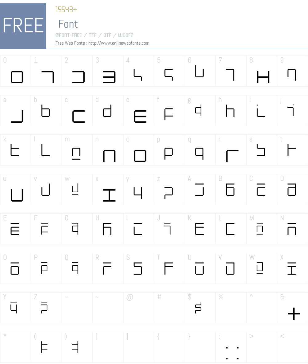 NewAlphabet Font Screenshots