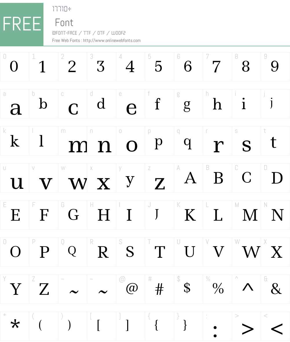 Ledger Font Screenshots