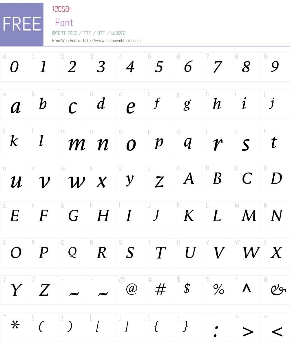 ParableLF-RegularItalic Font Screenshots