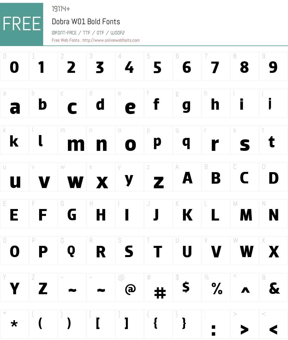 DobraW01-Bold Font Screenshots