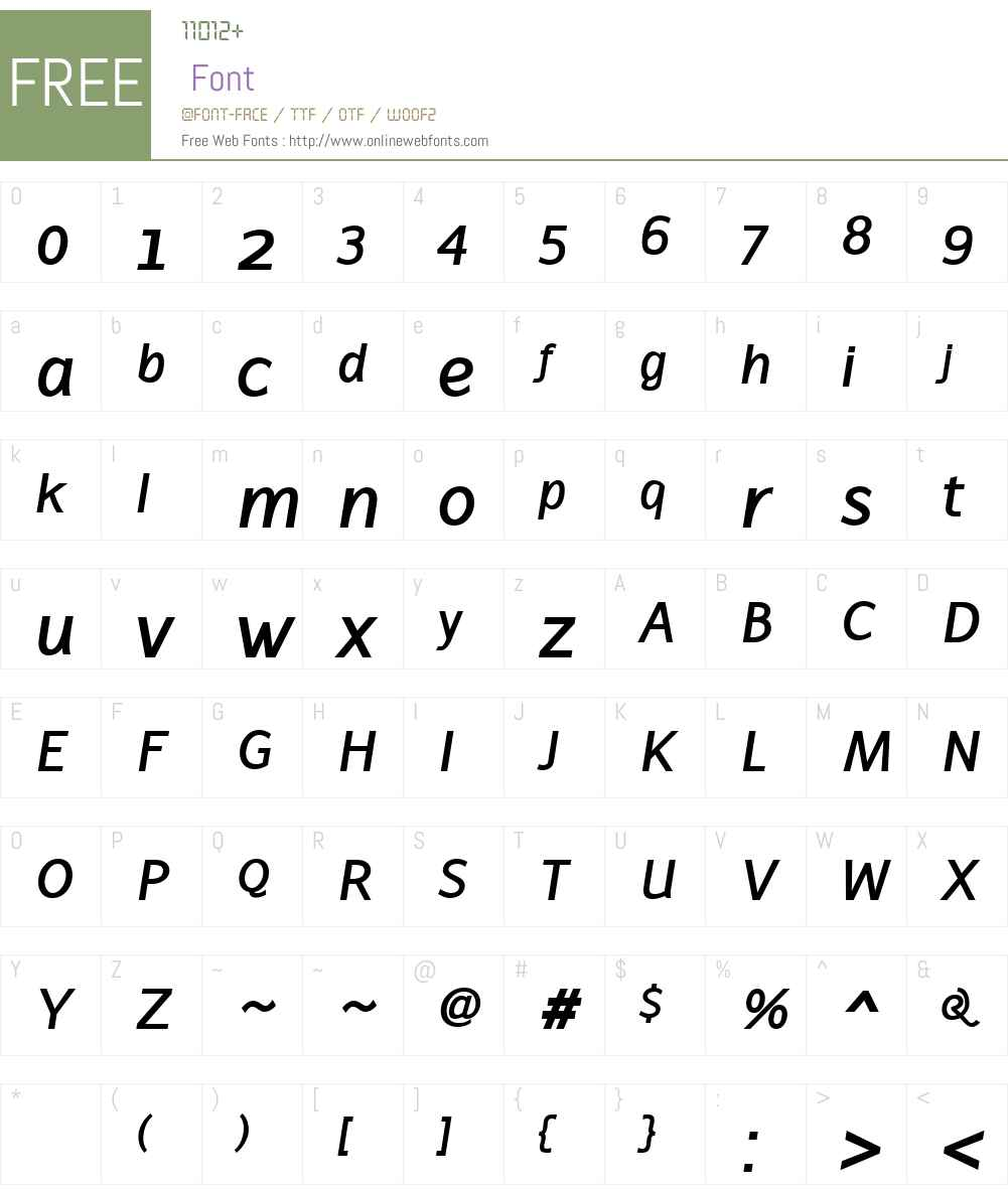 LatinairesW00-BoldItalic Font Screenshots