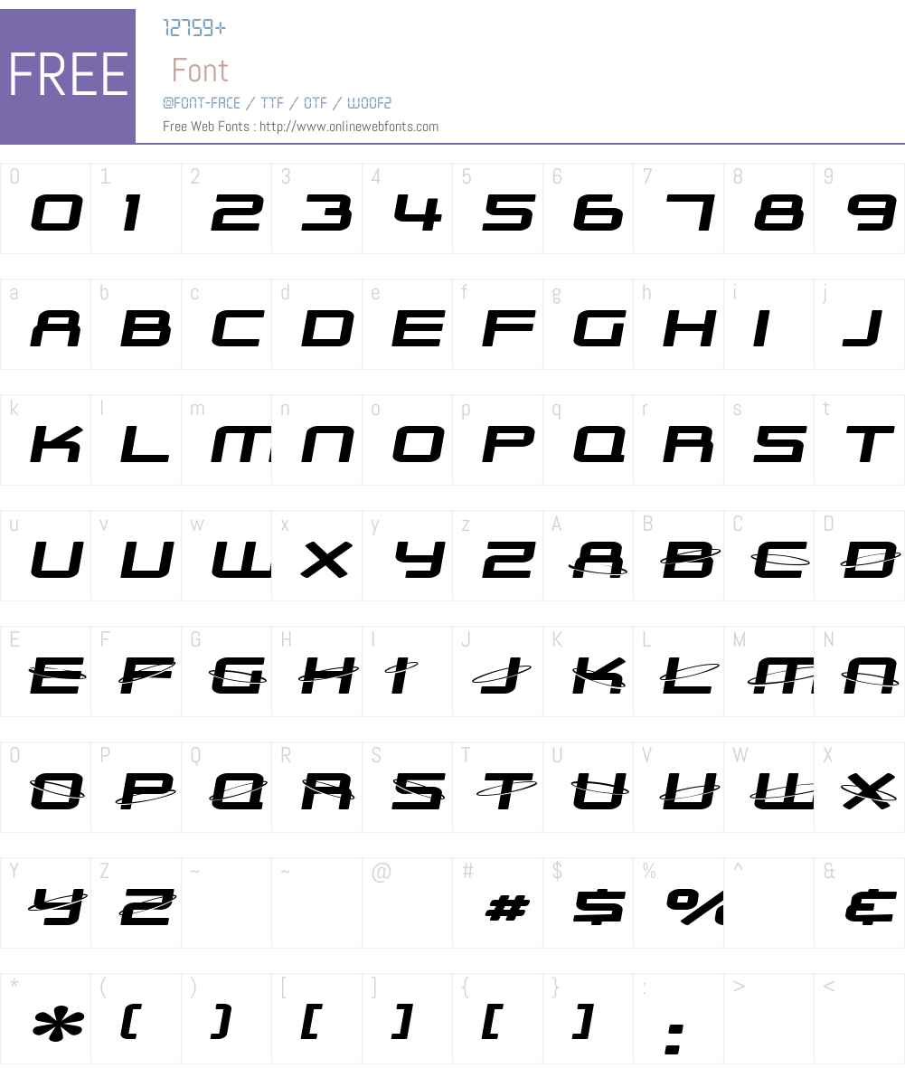 SF Outer Limits Extended Font Screenshots
