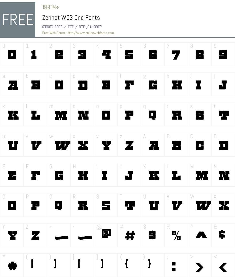 Zennat Pro Font Screenshots