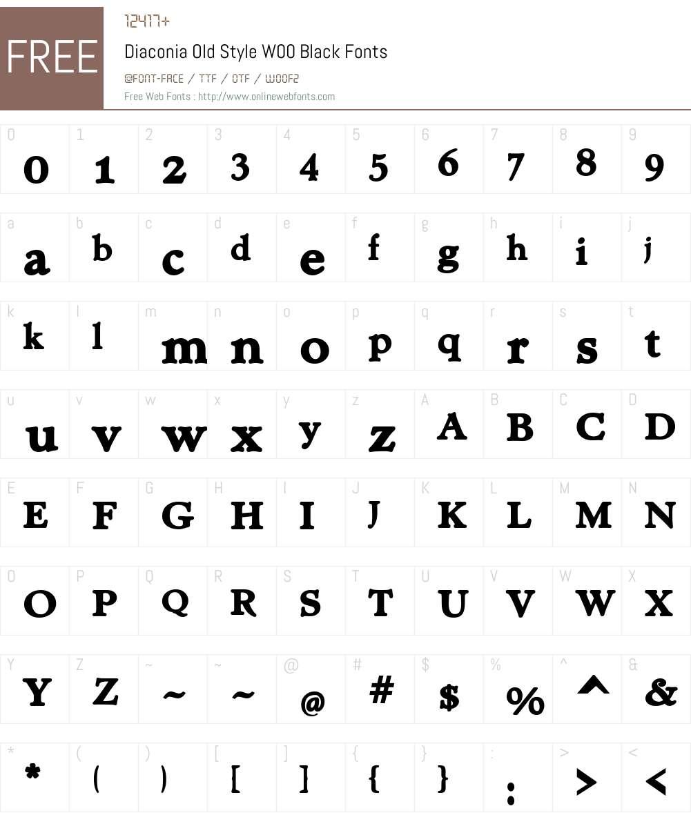 Diaconia Old Style Font Screenshots