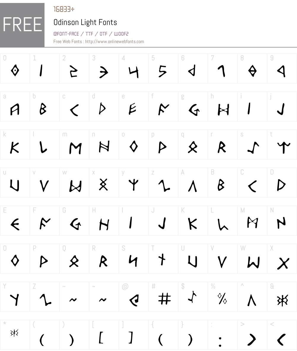 Odinson Light Font Screenshots