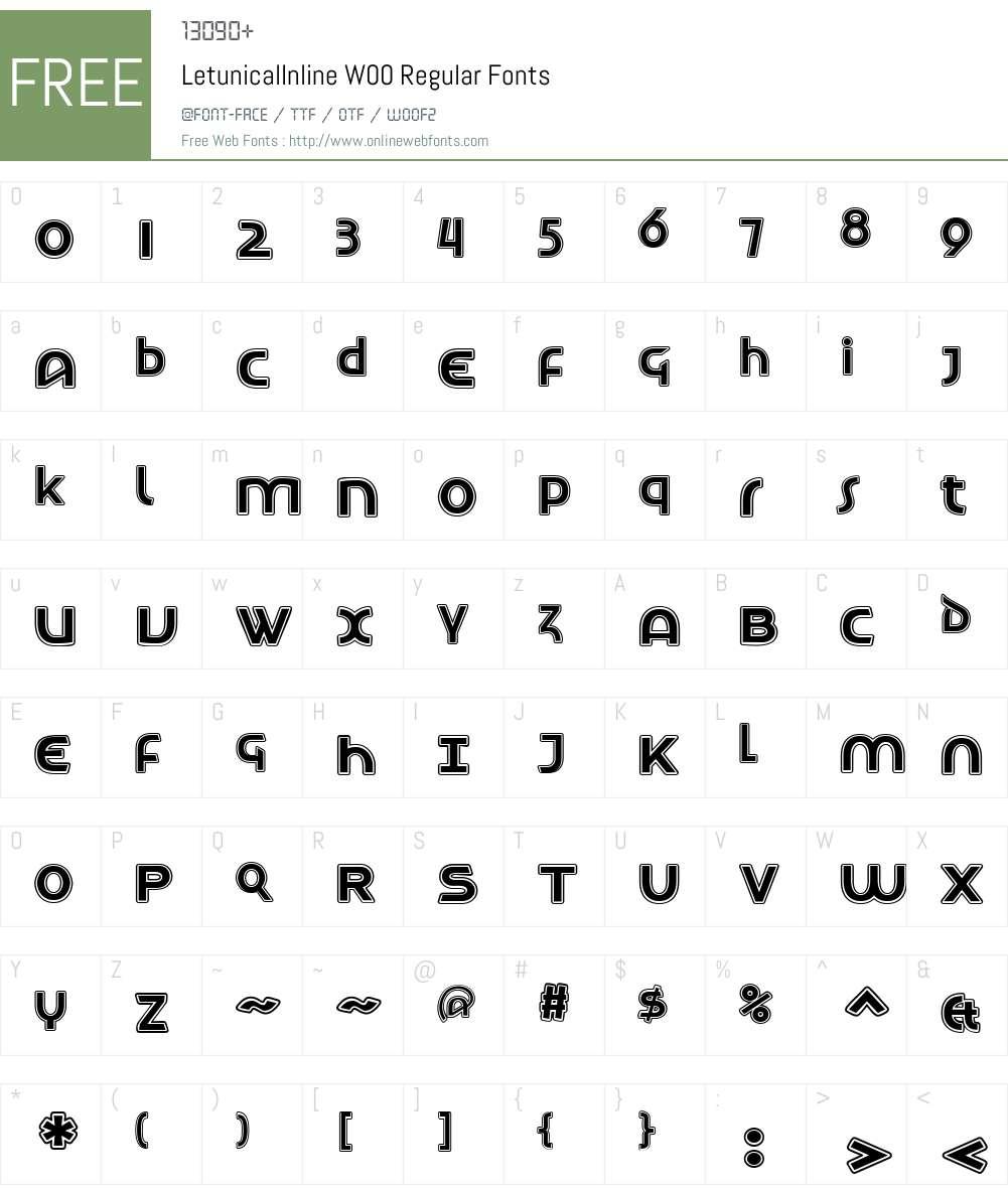 LetunicalInlineW00-Regular Font Screenshots