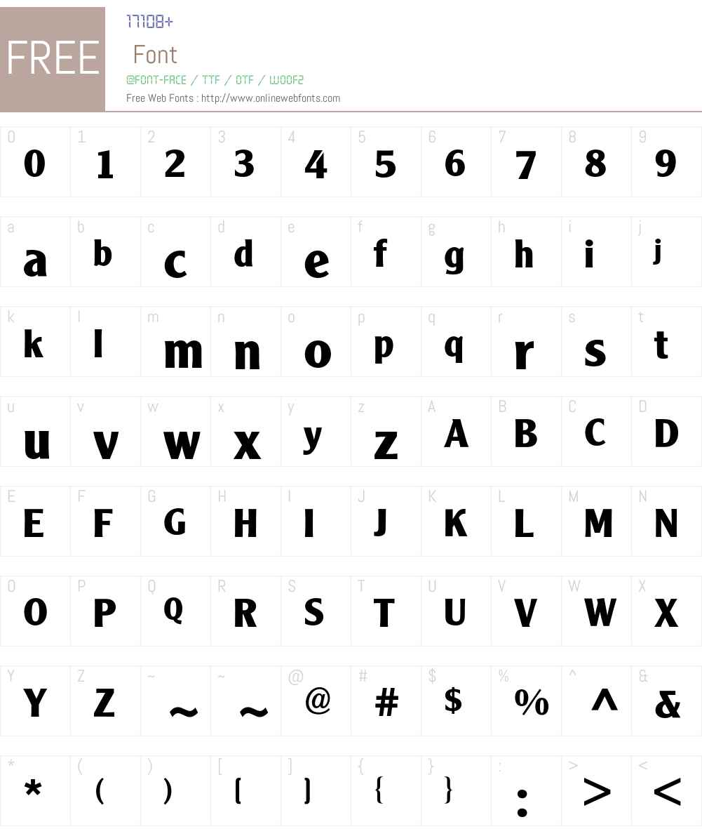 Clearface Gothic BQ Font Screenshots