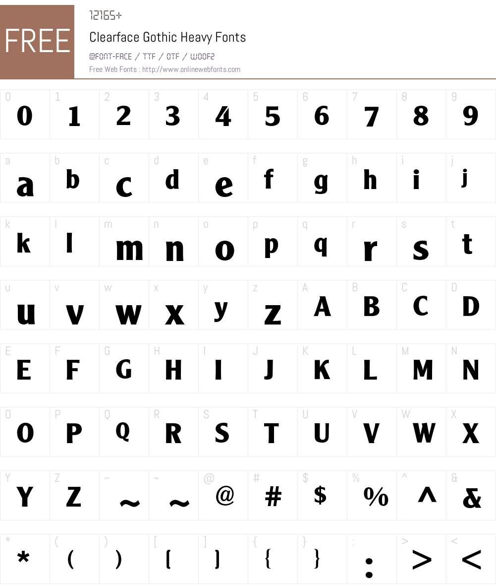 Clearface Gothic BQ Font Screenshots