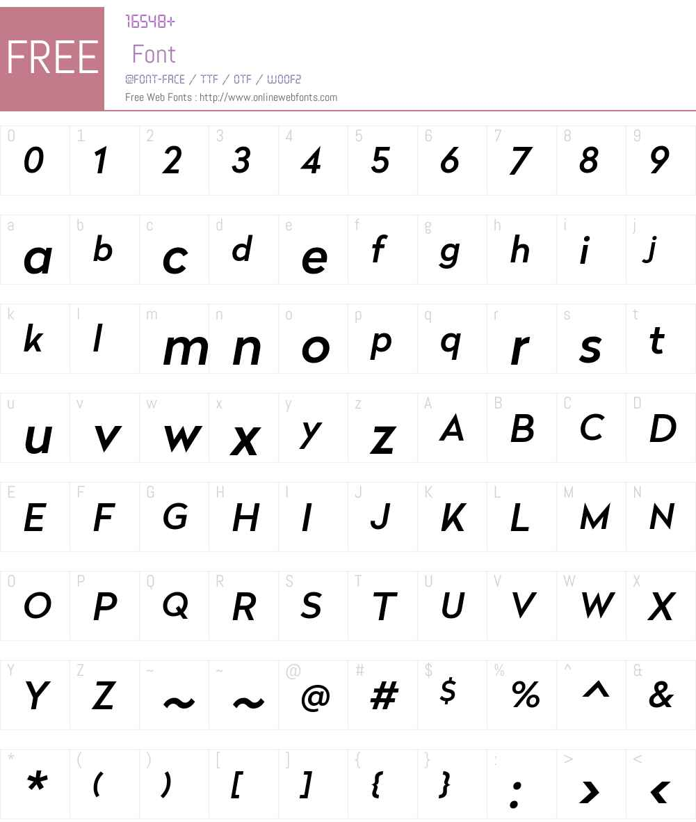 Radikal Medium Font Screenshots