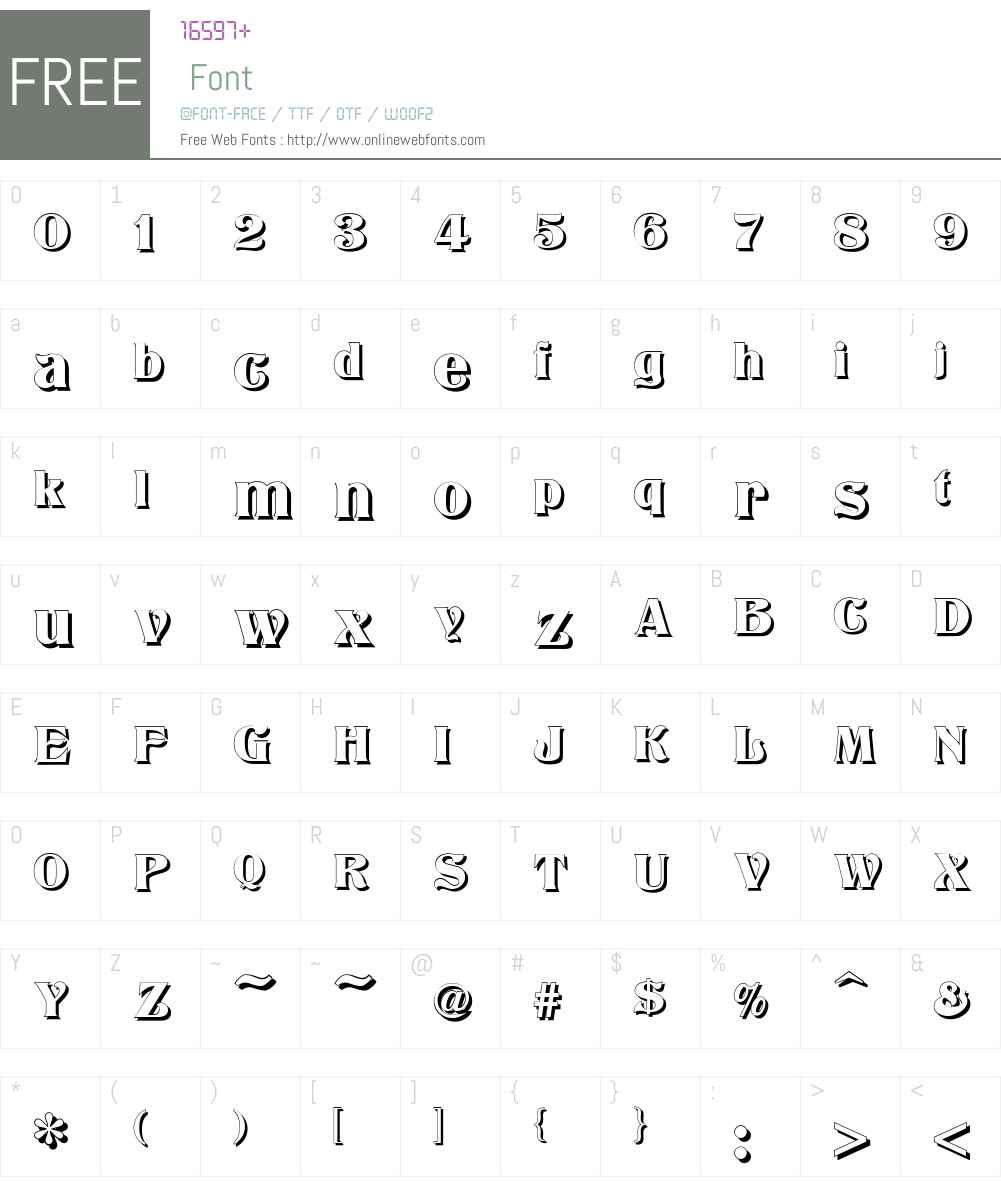 Titania Font Screenshots