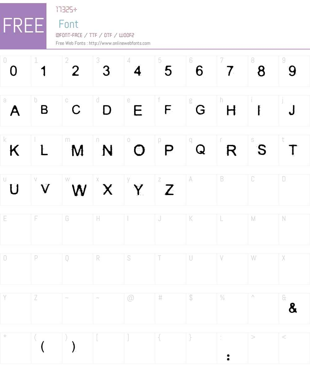 DECOST Font Screenshots
