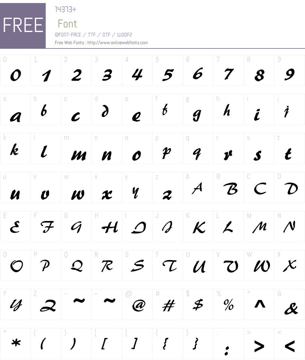 PaletteD Font Screenshots
