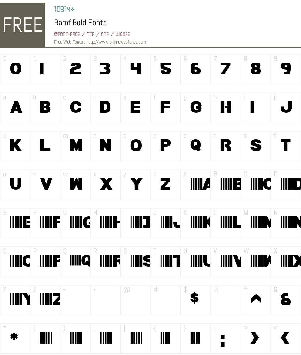 Bamf Bold Font Screenshots