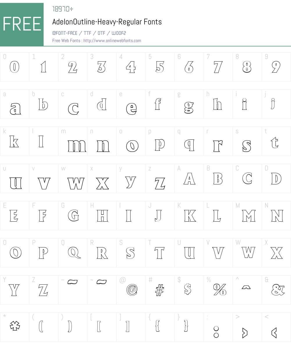AdelonOutline-Heavy Font Screenshots