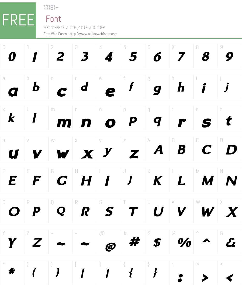 BrinarW01-BlackItalic Font Screenshots