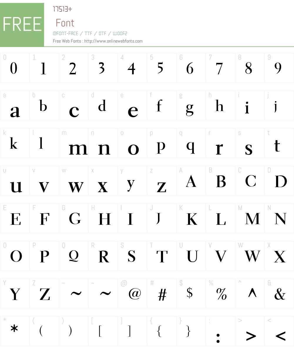 Parkinson Electra Font Screenshots