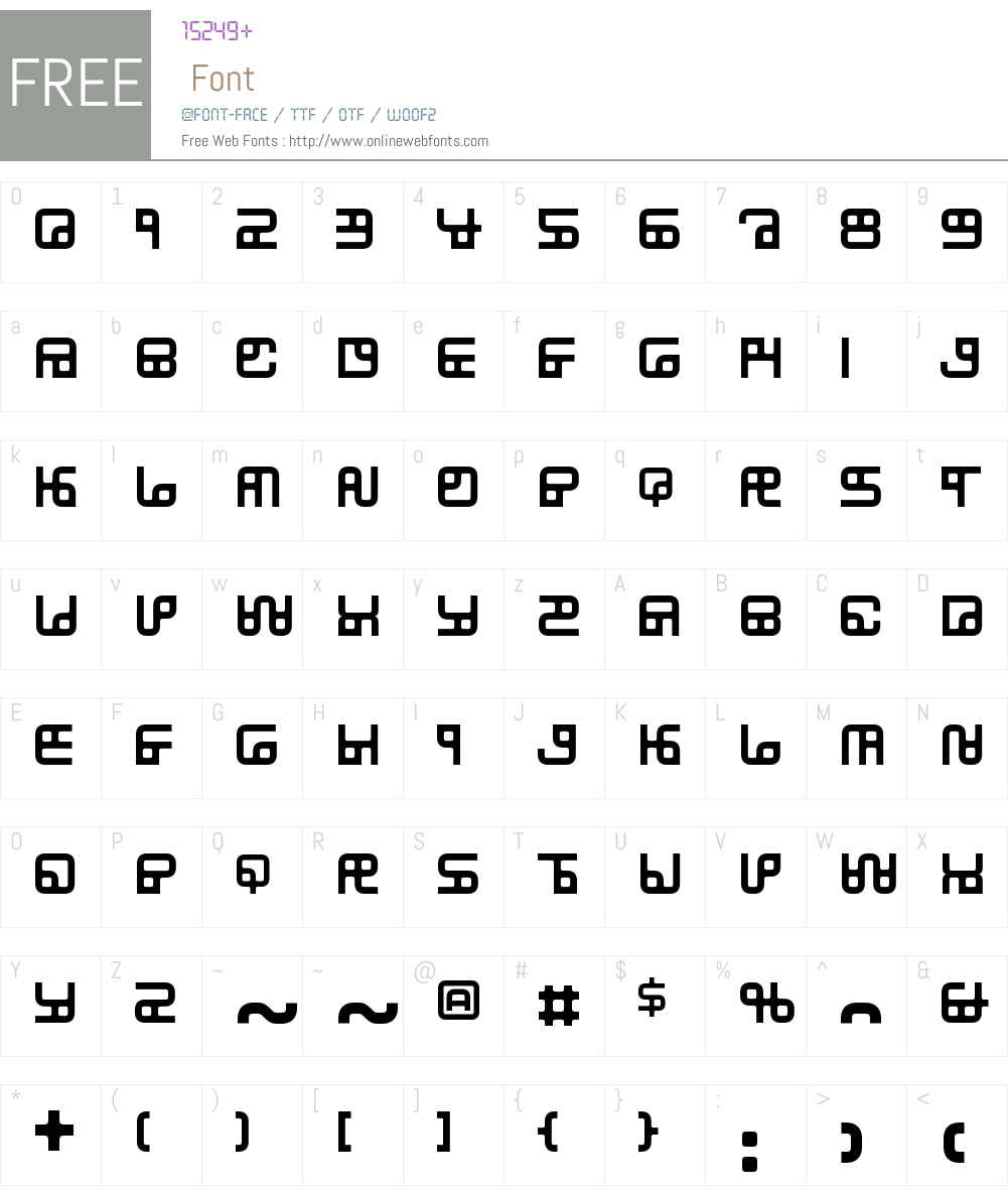 SubstationW00-Regular Font Screenshots